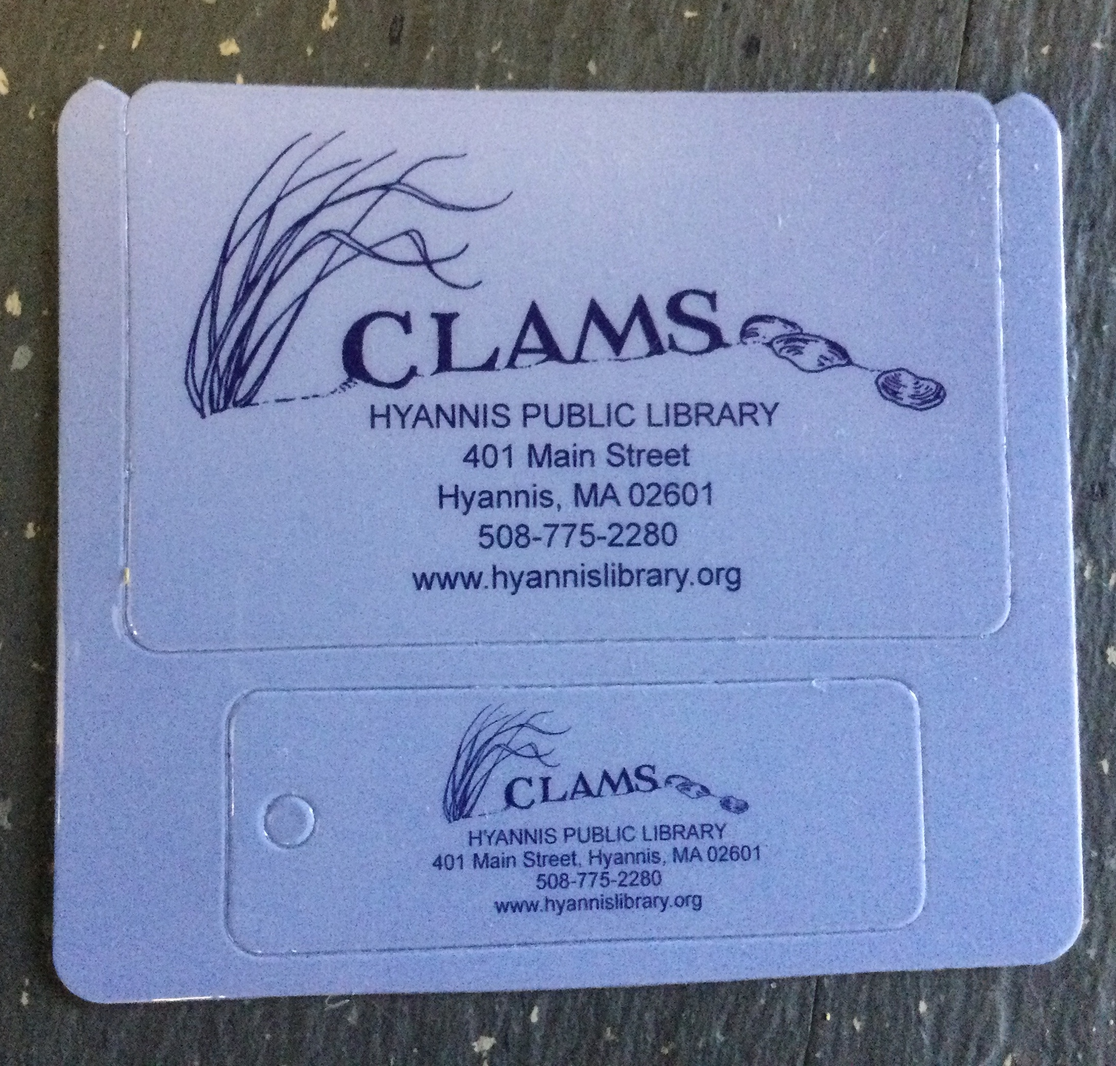Hyannis Public Library CLAMS card